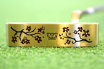 Gauge Design by Whitlam Cherry Blossom Gold Limited Edition  Putter
